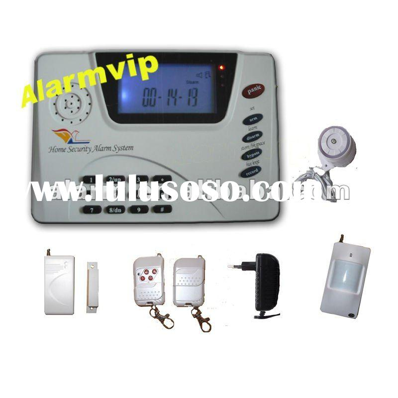 wireless/wired LCD display GSM PSTN alarm system