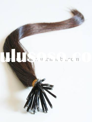 100% high quality human hair U tip/nail tip hair extension/nail keratin hair extension
