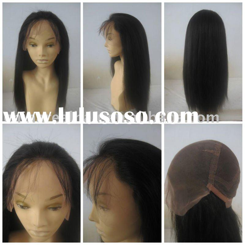 100% human hair kinky yaki full lace wigs directly from factory