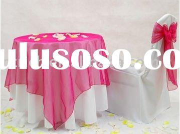 100%polyester chair cover,Hotel chair covers, organza table overlay