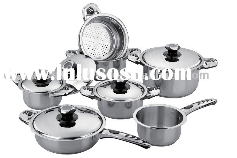 12 pcs stainless steel cookware set