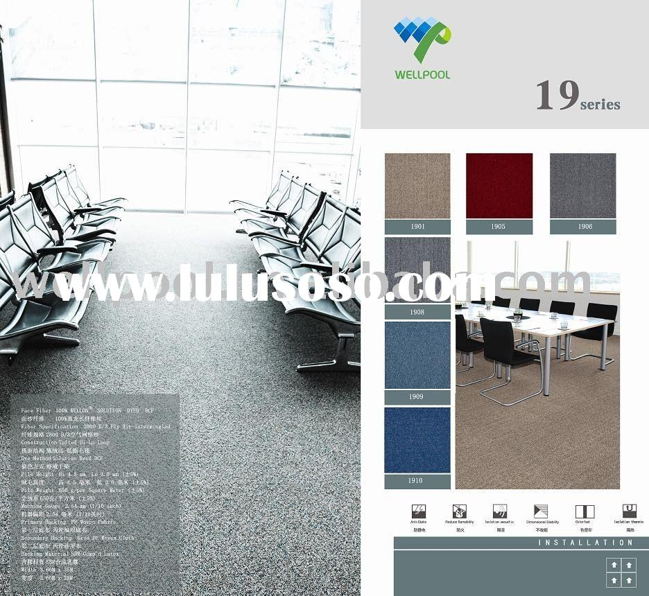 P c series pp eco rubber back tufted carpet tiles for for Wall to wall carpeting prices