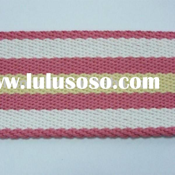 1.5 inch natural cotton webbing,colored cheap cotton webbing