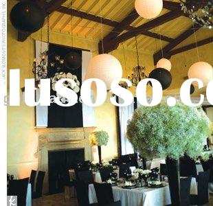 2010 the best fashion white and black round paper lantern for wedding with CE certificate