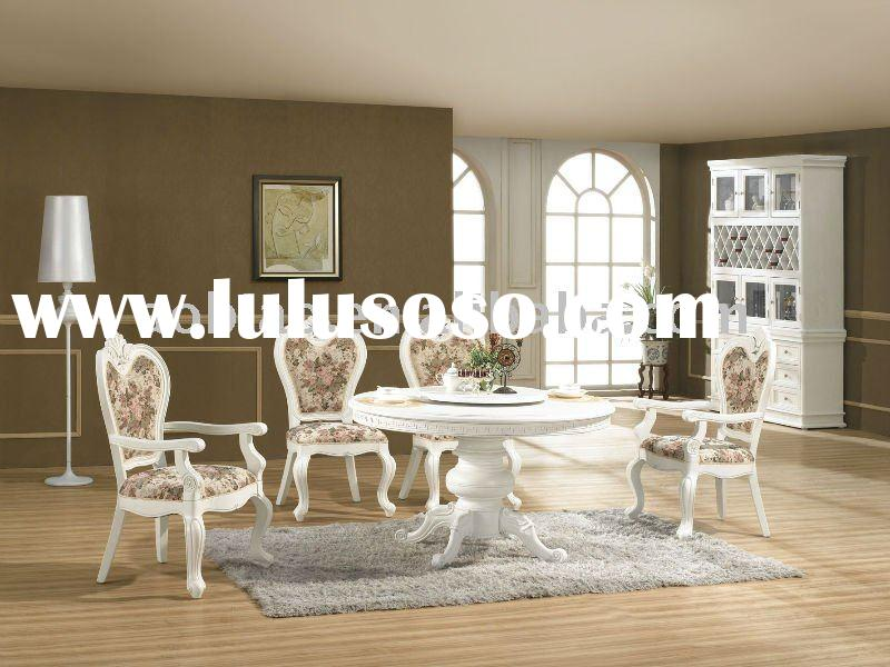 2011 Hot Sale New Classical Solid Wood Round Dining Room Set EA019/EB022/EBA022