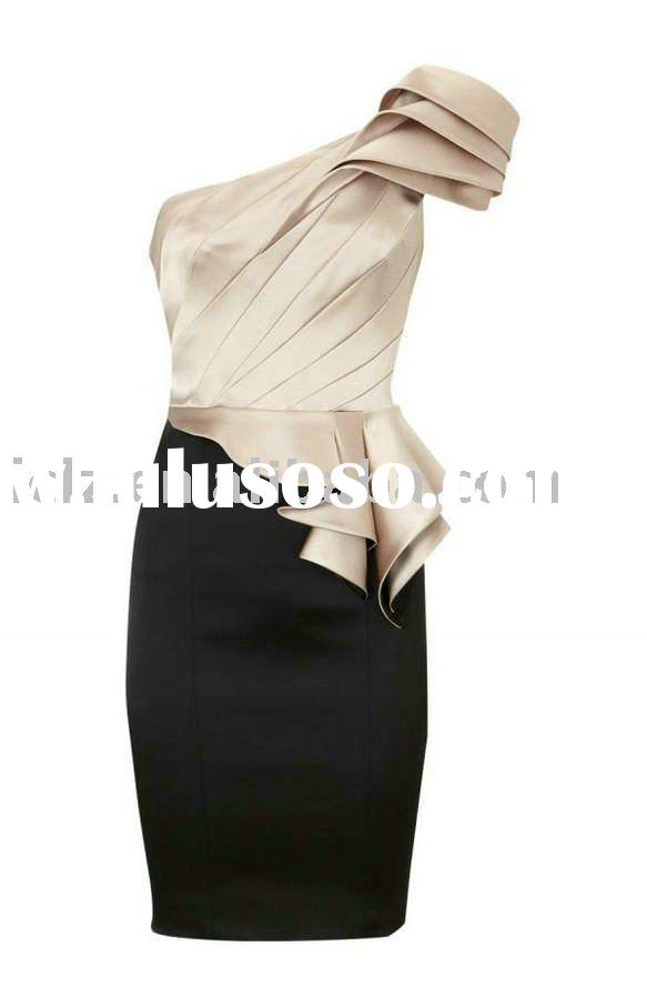 2011 Latest fashion formal dress DK151 classic one-shoulder designer