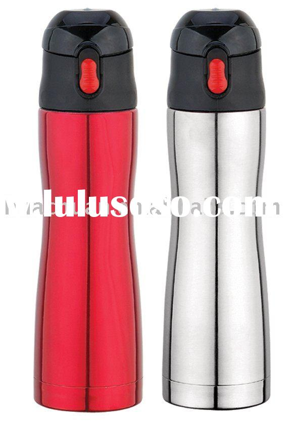 2011 hot sale stainless steel vacuum flask with fashion button lid