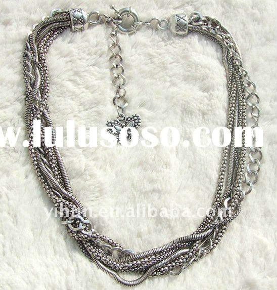 2011 new fashion jewelry metal chain necklaces