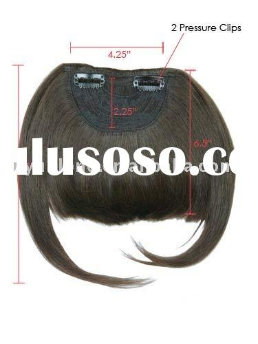 2011 popular best quality human hair accessories clip in fringe