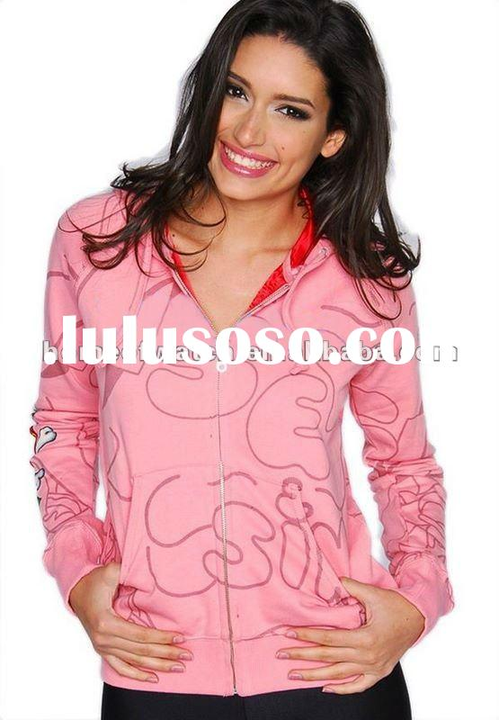 2012 Brand Lady Hoodies,Pink Unique Womens Hoodies (NBY0TW30711)