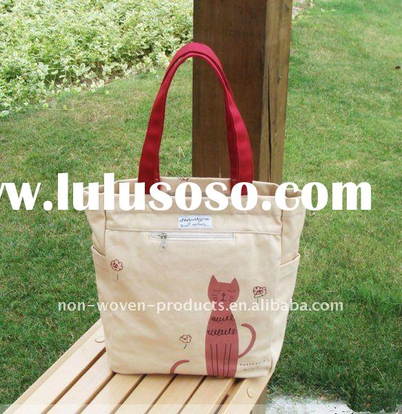2012 cheap nature canvas promotion tote bag Factory
