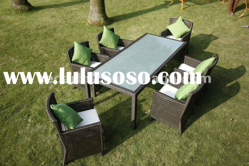 2012 rattan furniture KD table dining sets