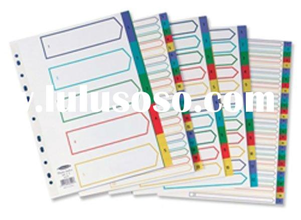 2012 the office necessary supplies index dividers