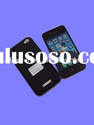 2500mAh Solar Battery Case for iPhone 4