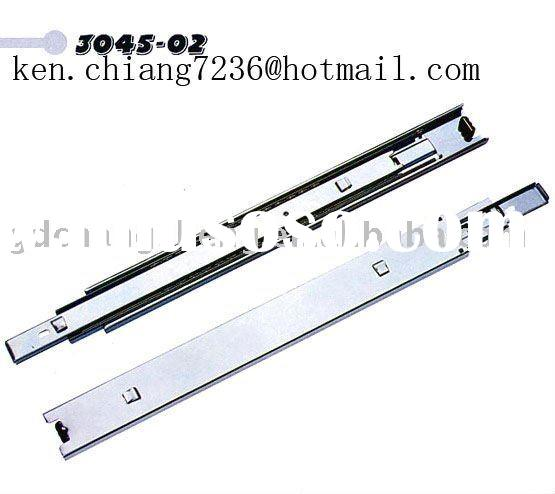 45mm 3-fold #3045-02 full extension roller bearing drawer slide with bayonet for tool box