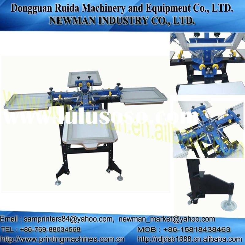 4 colour 4 station silk screen printing press machinery
