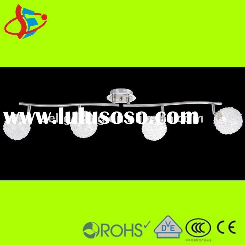 4 heads glass wire ball modern recessed ceiling light(China manufacturer)