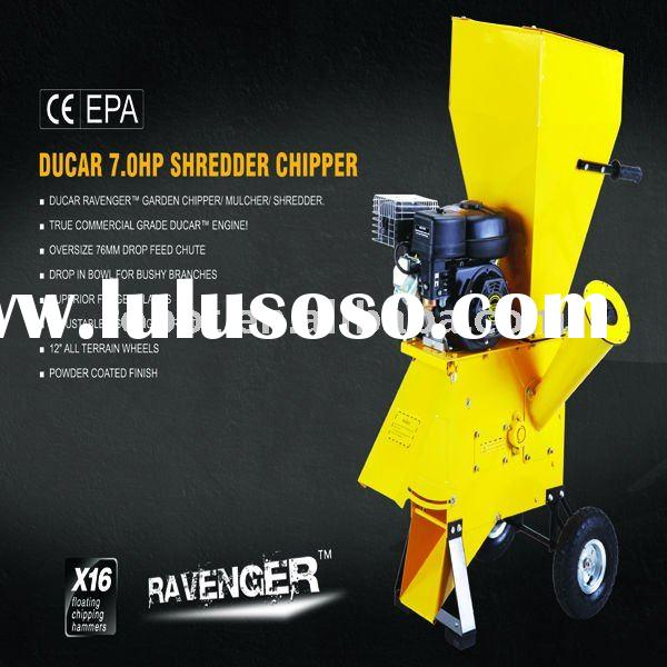 7.0HP track whole tree chipper