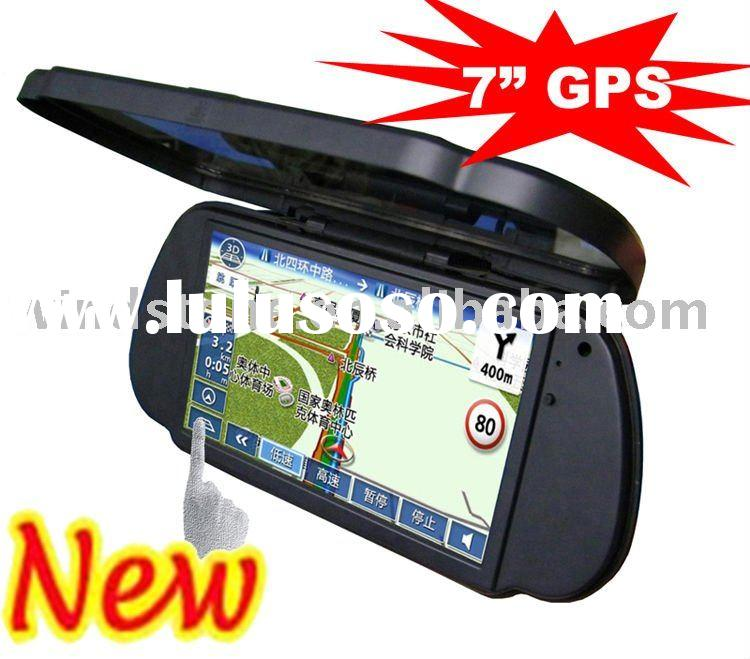 "7 inch GPS Navigation/ 7"" bluetooth GPS/7 inch rear mirror GPS +Bluetooth+AV IN +FM transmitter"