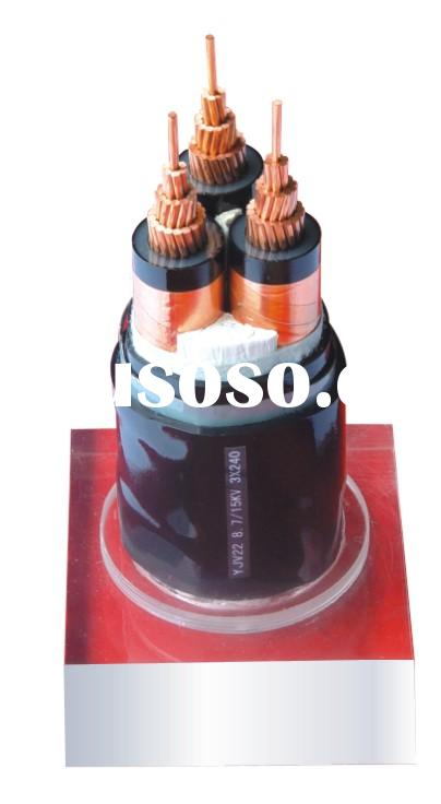 8.7/15KV 3*240 XLPE insulated steel-tape armoured and PVC sheathed powe cable