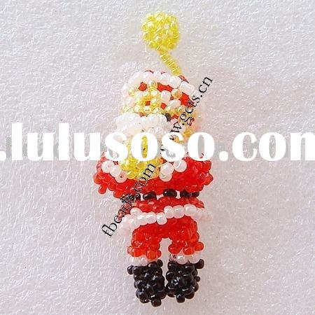 Acrylic bead craft for christmas gift,santa claus,60x23x25mm