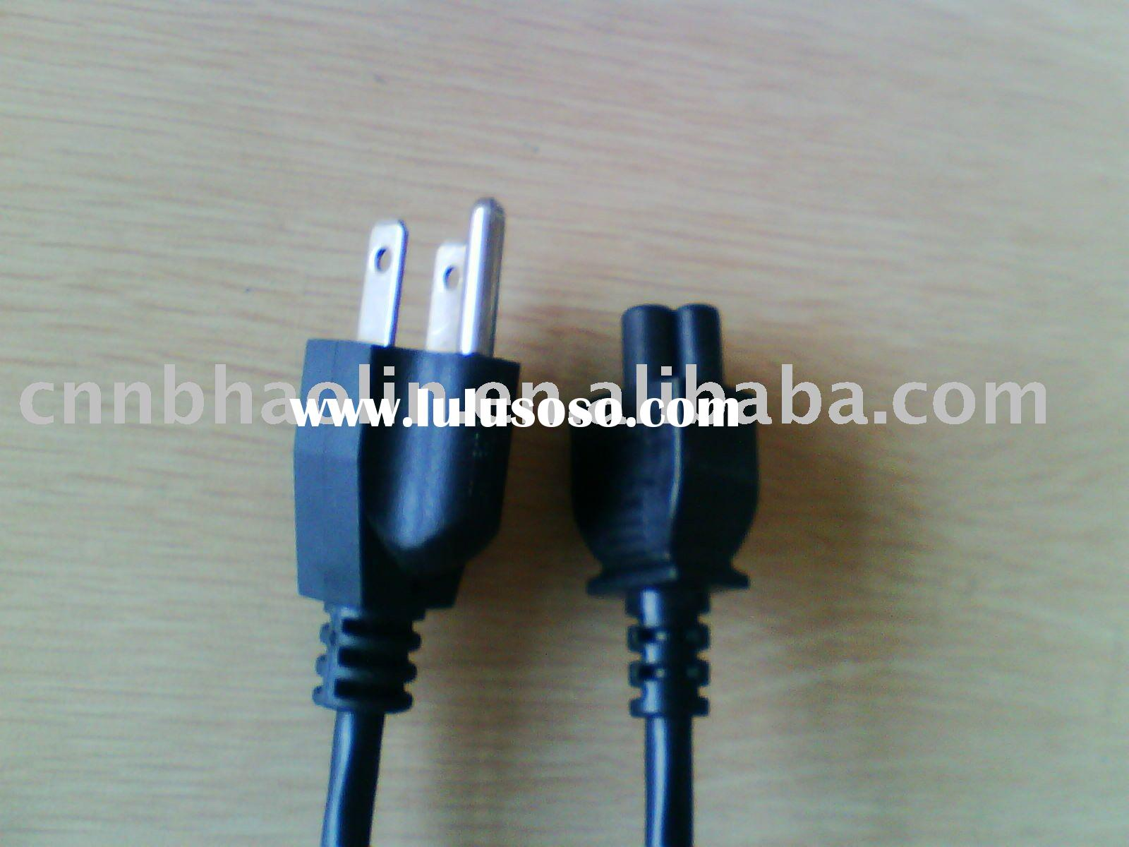American UL Power Cord with computer terminal connector