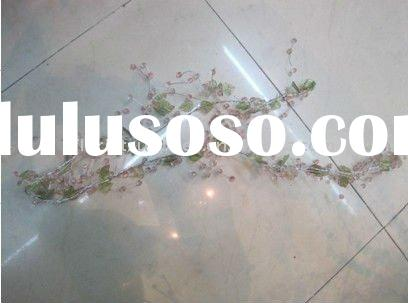 Beaded Floral Garland branch/Clear Crystal Garland/crystal diamond beads spary/beads spary bouquet