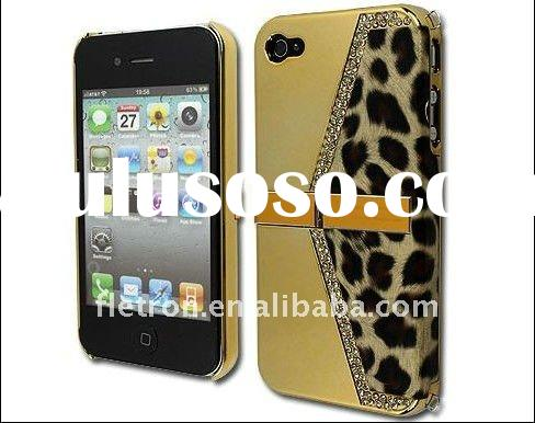 Bling Stand Holder Leopard Case Cover For iPhone 4 4G 4s