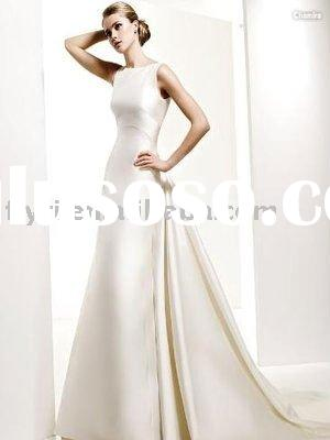 Boat Neck Floor-length Bridal Gown Style
