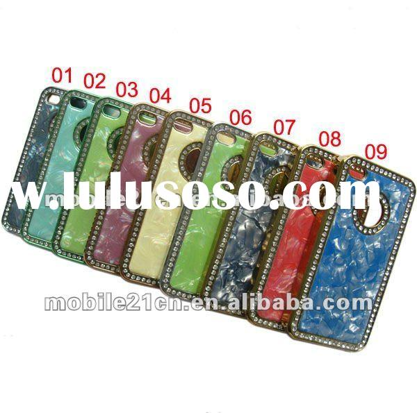 Chrome Crystal Marble Case Luxury Bling Diamond Cover For iPhone 4 4G 4S 4GS