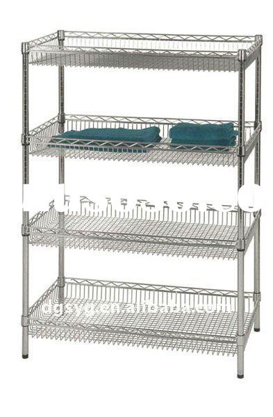 Chrome Wire Storage Rack For Clothes And Garment For Sale