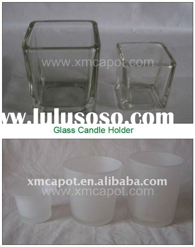 Clear Glass / Frosted Glass Candle Holder