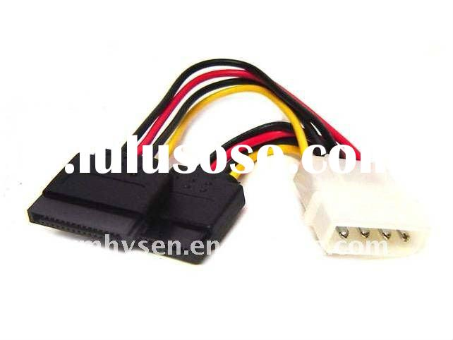 Connector from PCS power supply into two 15 pin IDE to SATA Serial ATA Splitter Power Cable