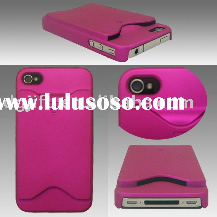 Credit card holder case for iphone 4; PC case with card holder for iphone4/4s;