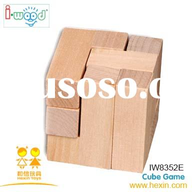 Cube Game ( wooden gift, wooden puzzle,promotion gift )