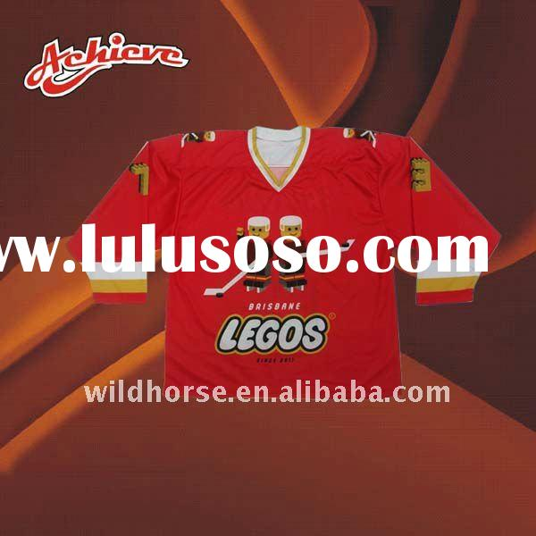 Custom made special design ice hockey uniform, t shirt