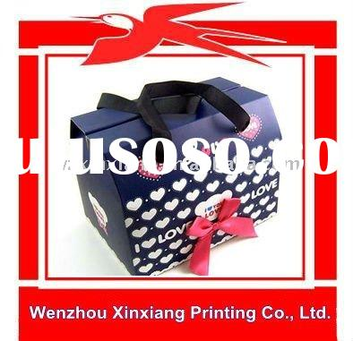 Customized Small Paper Gift Bags with Ribbon Handles