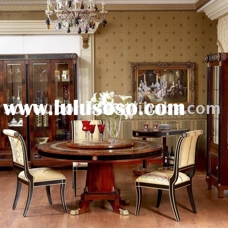 E10 round dining table-luxury dining set