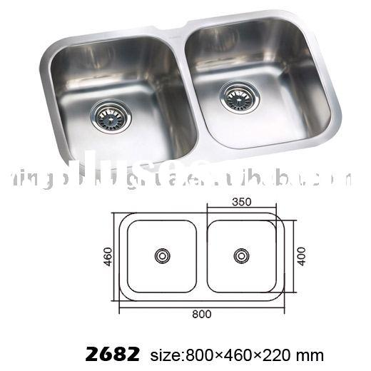 FAM2682 Double Bowl Undermount Stainless Kitchen Sink