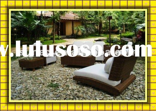 Factory hot sale popular style outdoor wicker rattan patio furniture for garden and beach resting SC