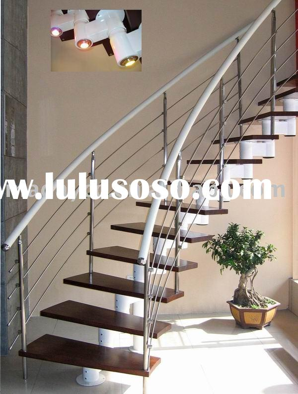 Fashion Stainless Steel Wood Stairs