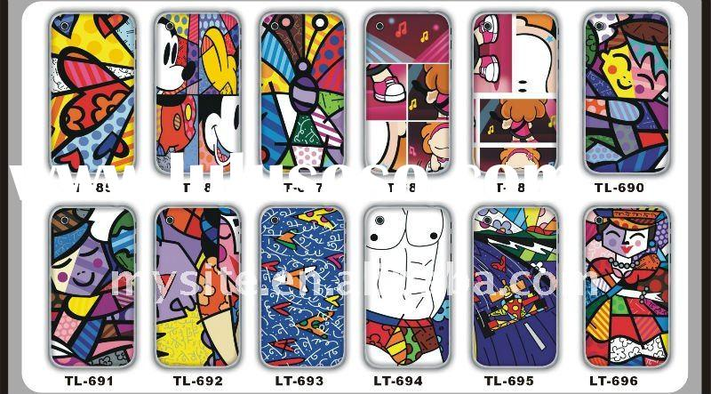 Fashionable Cute Cartoon Design Decal Case Covers for Cell Phone