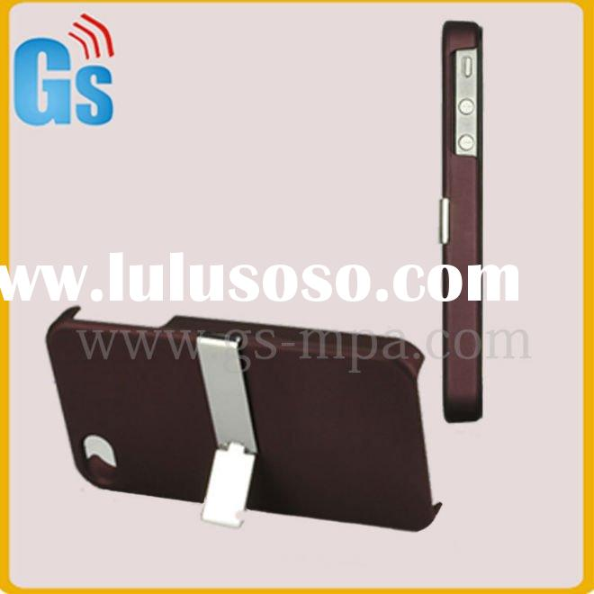 For Apple iPhone 4 4G with Stand Rubber Hard Case