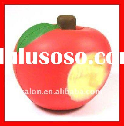 Fruit Apple shape Anti-Stress Relax easy Toy OEM Logo cheap Giveaway Gift Soft PU Toy