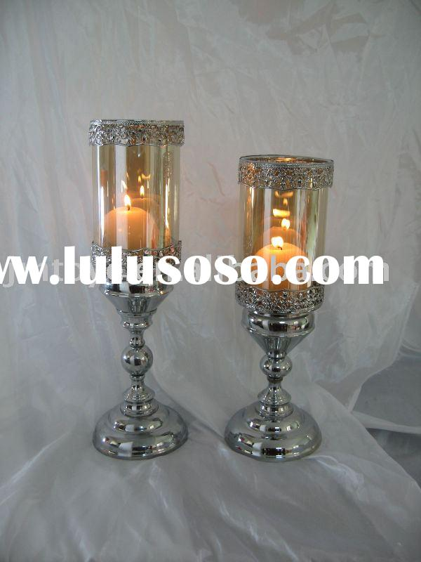 Glass Candle holder,Metal candle holder,Home decoration