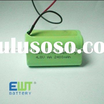 H-AA2400mAh 4.8V rechargeable NIMH Battery pack