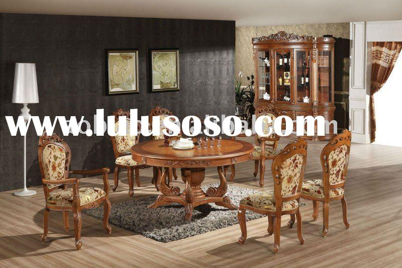 Hand Carved Classical Solid Wood Dining Furniture Set
