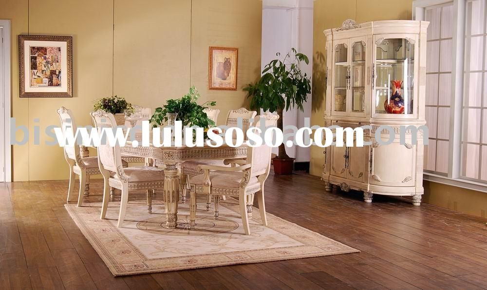 Hand carved American dining room sets,dining table,arm chair,dining chair,wine cabinet,American furn