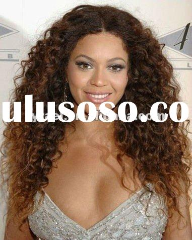 Hot sale!!!100% human hair kinky curl full lace wig 18inch