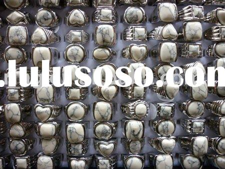 Hot sell white turquoise rings